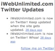 Twitter HTML Widget in iWeb