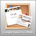 Google Search in iWeb