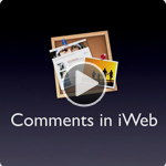 Comments in iWeb