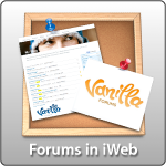 Vanilla Forums in iWeb