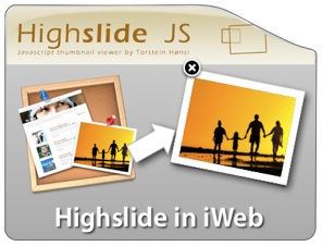 Highslide in iWeb