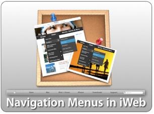 Navigation Menus in iWeb