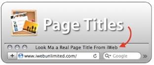 Page Titles in iWeb
