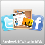 Twitter and Facebook in iWeb
