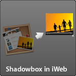 Shadowbox in iWeb