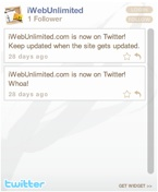 Twitter Widget (Flash)