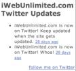 Twitter HTML Widget in iWeb