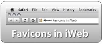 Favicons in iWeb
