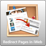 Redirect Pages in iWeb