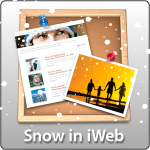 Snow in iWeb