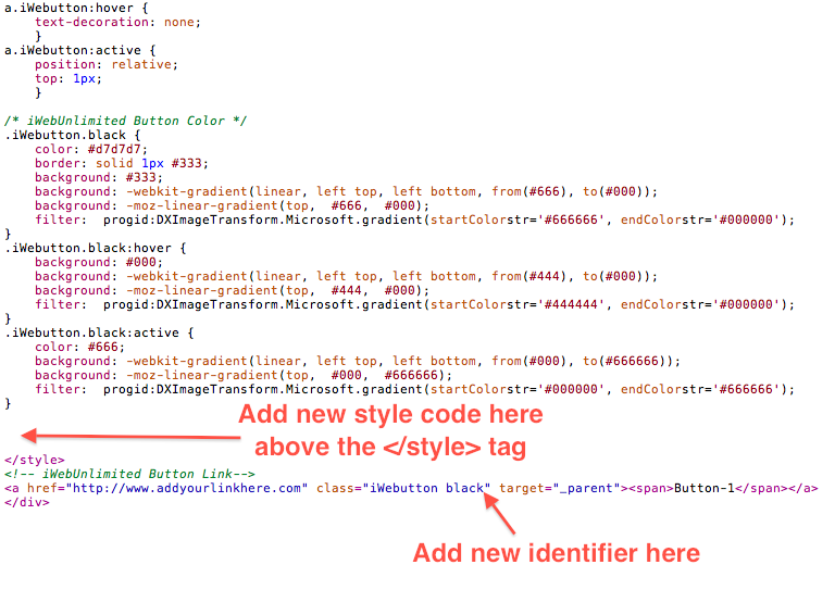 how to use css code in html