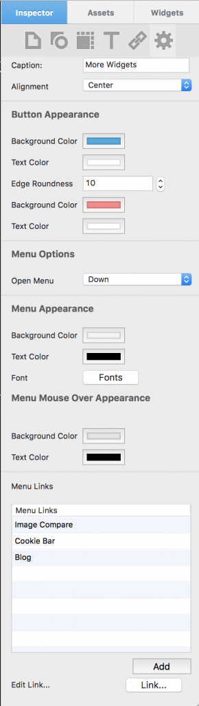EverWeb DropDown CSS Button