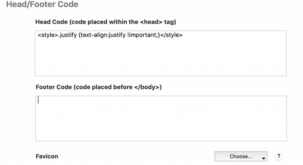 Justify Text code for Everweb