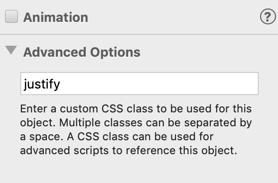 Advanced CSS Class Field in EverWeb