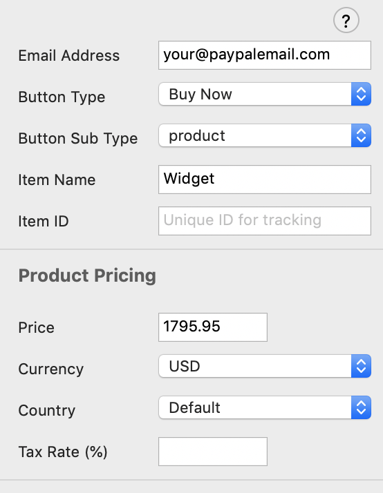 General PayPal eCommerce Options