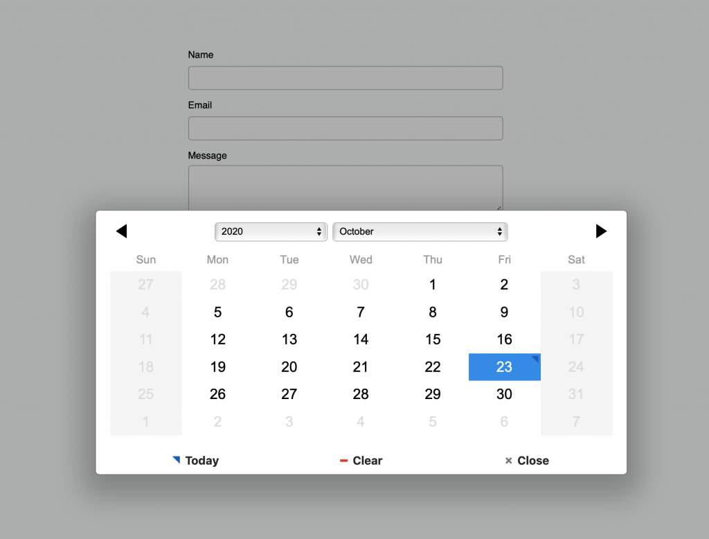 Contact Form Select Date final